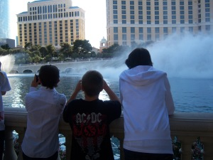 Watching the fountain show