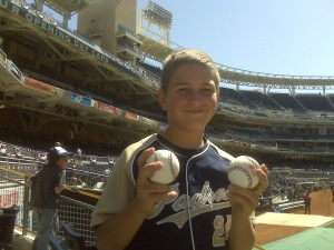 Batting practice balls caught on Opening Day 2009