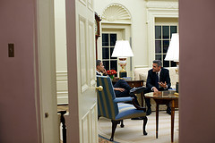 George Clooney in the Oval Office
