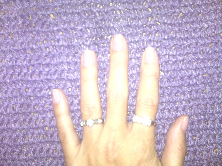 Naked fingers!