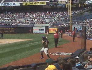 Tony Gwynn Jr in the on deck circle