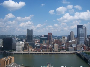 Piitsburgh skyline from overlook point