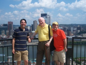 Sightseeing buds: Michael, Ed & Bill