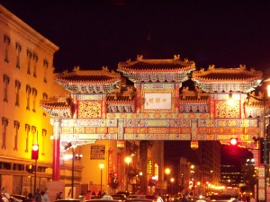 Entrance to Chinatown in DC