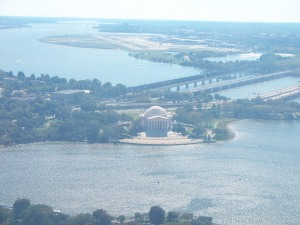 Jefferson Memorial across the water from the WM