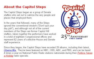 Capitol Steps screen shot