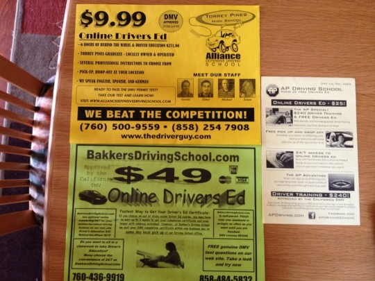 Drivers School Flyers