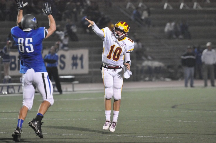 On his 18th birthday, the QB threw 3 touchdown passes - his follow through is quite lovely eh?