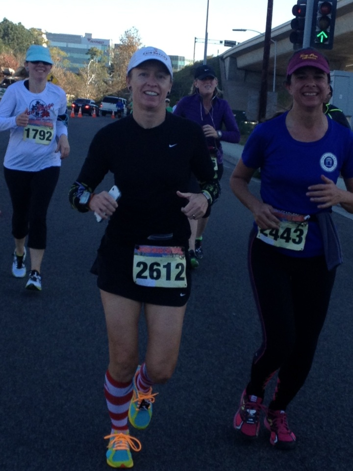 Still smiling at between mile 11 and 12