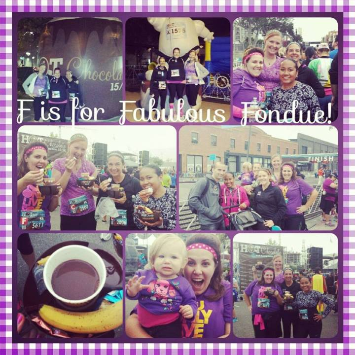 My co-workers' photo montage from the morning. Yes, we received a hot chocolate + fondue bowl at the end.