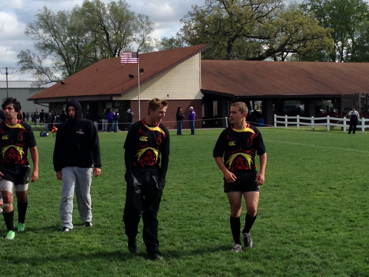 The scrum half duo of Bryce and Alex after Game 1.