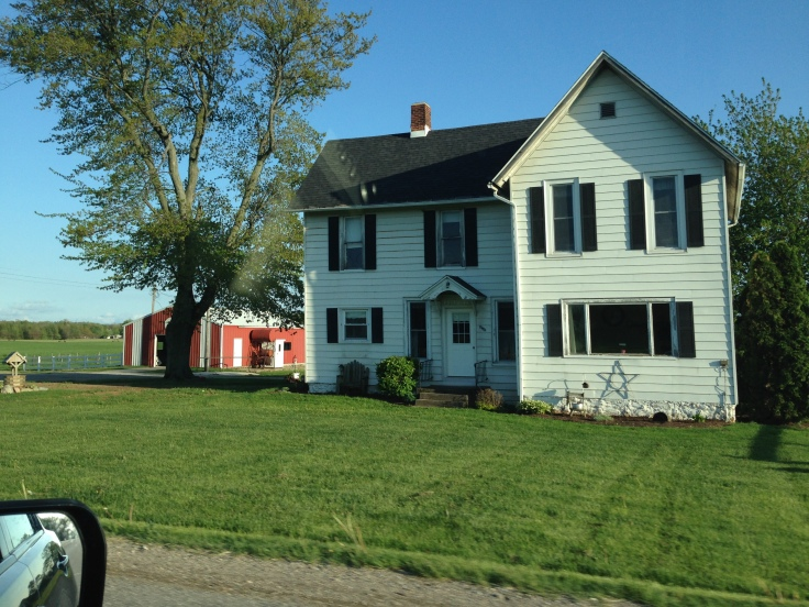 House along the road as we approached Amish country outside of Elkhart, Indiana.
