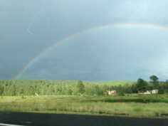 Rainbow over Flagstaff