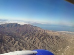 The Great Salt Lake on approach into the SLC airport