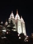 Main Temple at night.